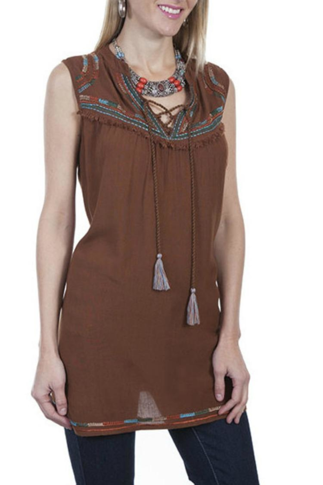 Scully Embrodiery Tunic - Side Cropped Image
