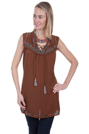 Scully Embrodiery Tunic - Front cropped
