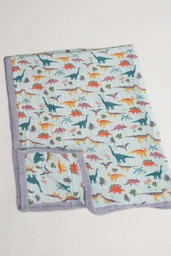 Little Unicorn Embrodinosaurus- Jurassic Quilt - Alternate List Image