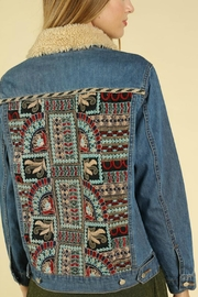 Pretty Little Things Embroiderd Denim Jacket - Front full body