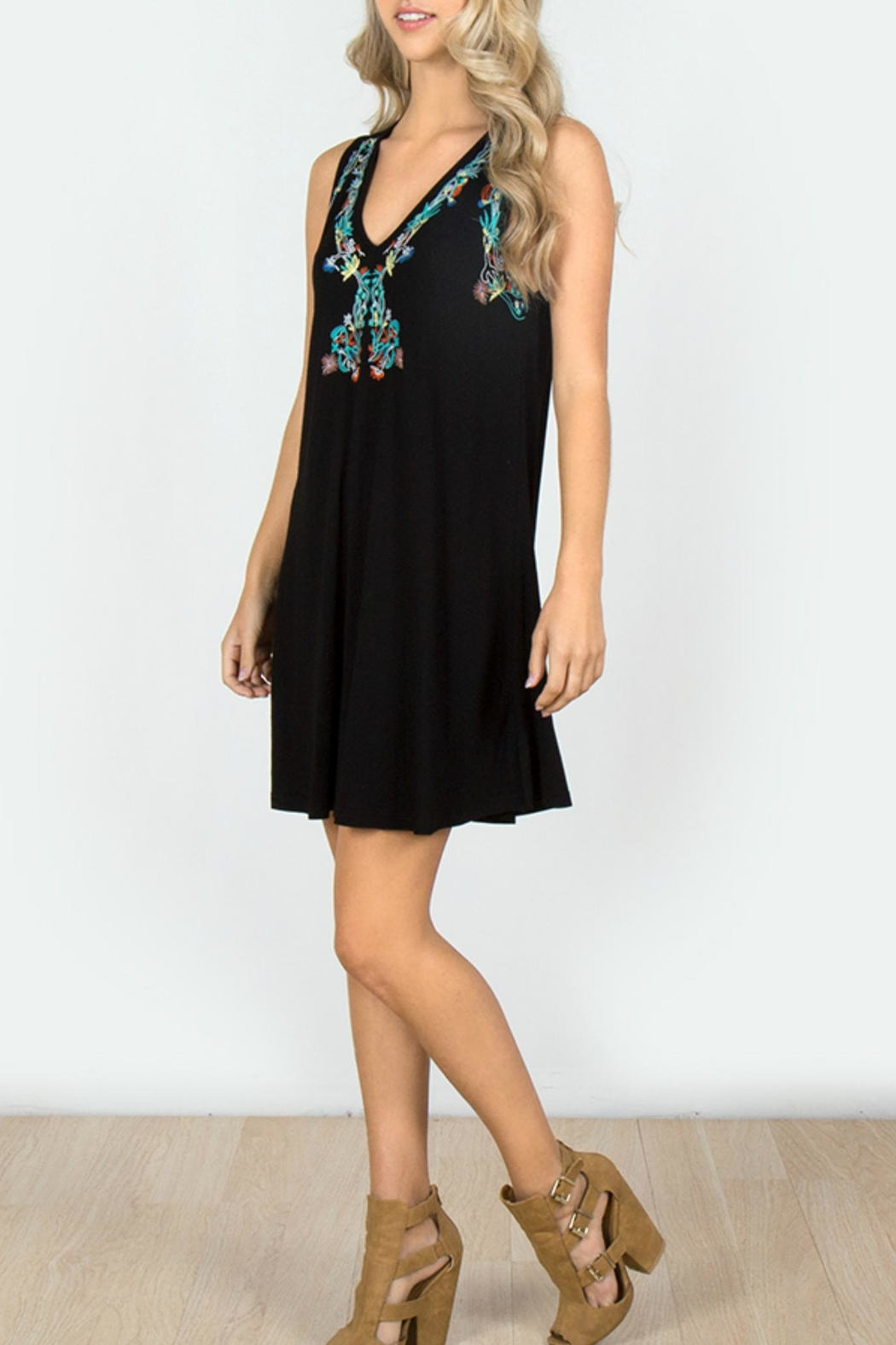 Mur Monoreno Embroiderd Sleeveless Dress - Main Image