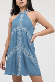 Blu Pepper Embroidered A-Line Dress - Product Mini Image