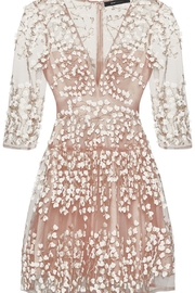 BCBG MAXAZRIA Embroidered A-Line Dress - Side cropped