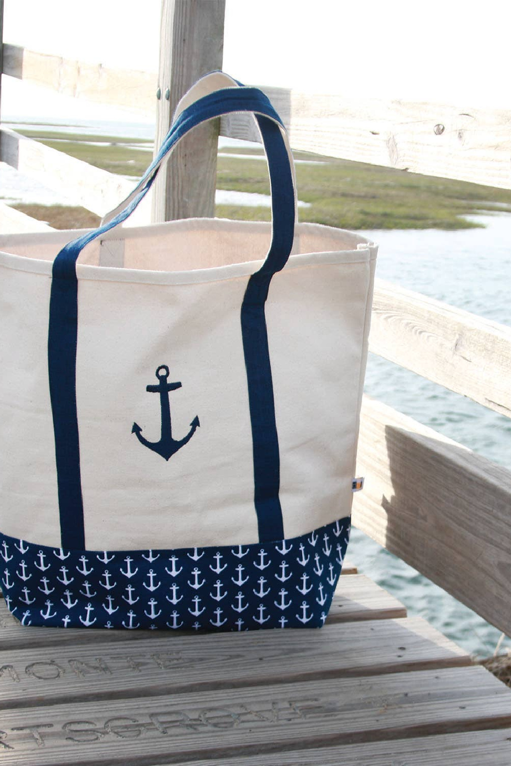 DEI Embroidered Anchor Tote - Front Full Image