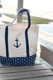 DEI Embroidered Anchor Tote - Front full body