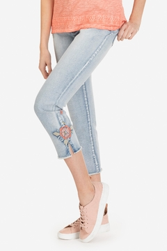 Shoptiques Product: Embroidered Ankle Jeans