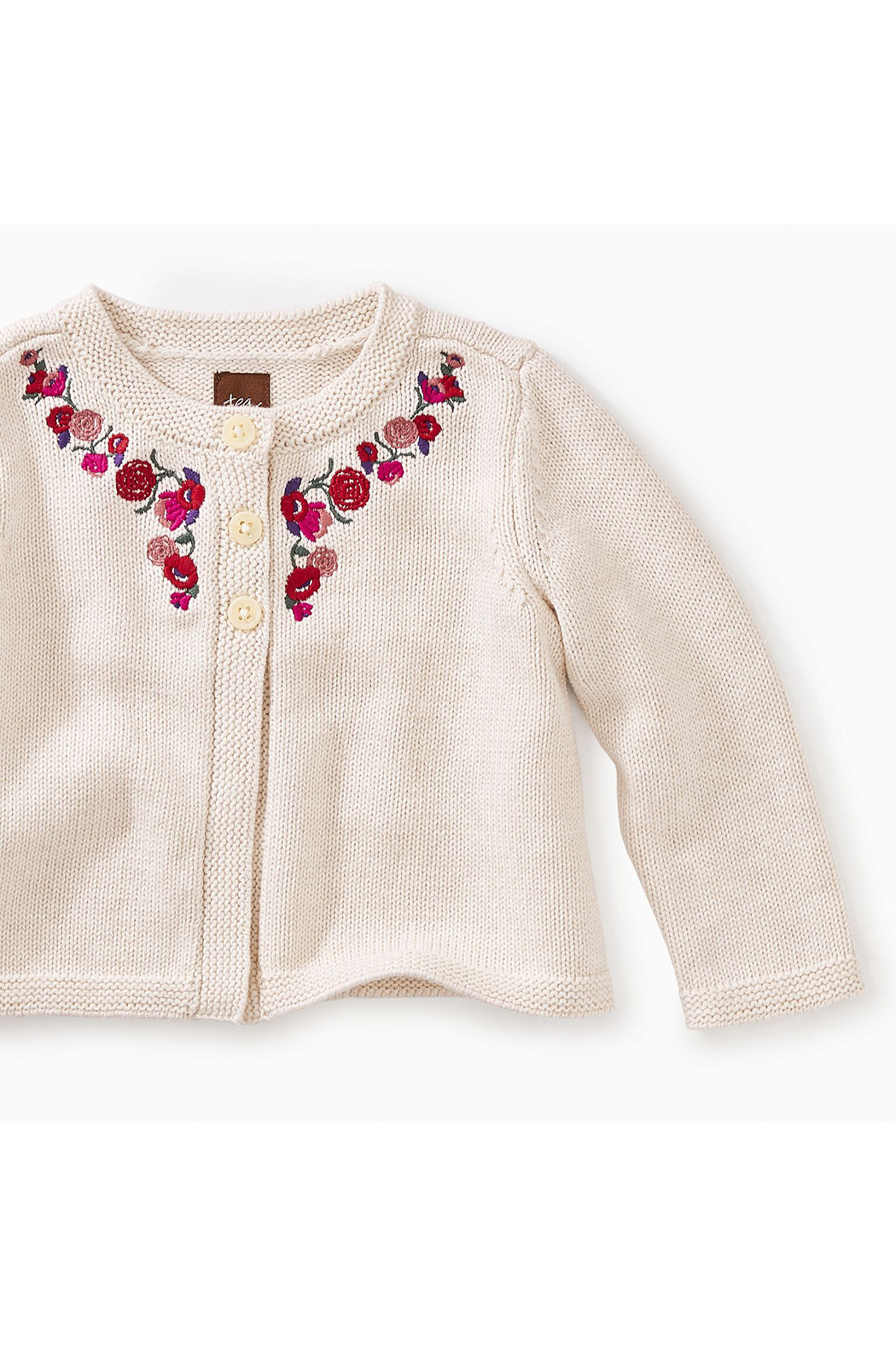 Tea Collection Embroidered Baby Cardi - Front Full Image