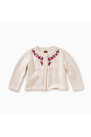 Tea Collection Embroidered Baby Cardi - Front cropped