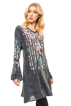 Adore Embroidered Bamboo Tunic - Alternate List Image