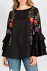 A&A Embroidered Bell Blouse - Product Mini Image