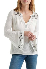 Lucky Brand Embroidered Bell Sleeve - Product Mini Image