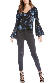 Fifteen Twenty Embroidered Bell-Sleeve Top - Product Mini Image