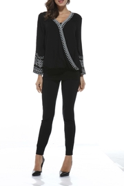 Orange Fashion Village Embroidered Bell-Sleeve Top - Front cropped