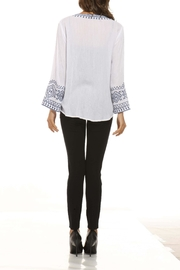 Orange Fashion Village Embroidered Bell-Sleeve Top - Front full body