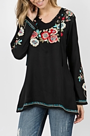 A&A Embroidered Bell Top - Product Mini Image