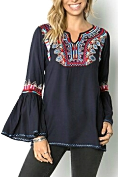 Shoptiques Product: Embroidered Bell Tunic