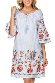 Joy Joy Embroidered Bellslv Dress - Product Mini Image