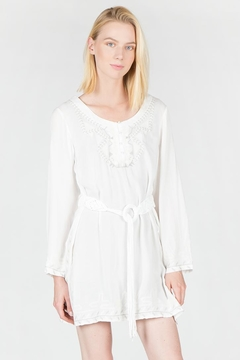 Shoptiques Product: Embroidered Belted Tunic