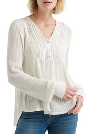 Lucky Brand Embroidered Bib Top - Product Mini Image