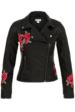 Tribal Embroidered Biker Jacket - Product List Image