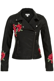 Tribal Embroidered Biker Jacket - Product Mini Image