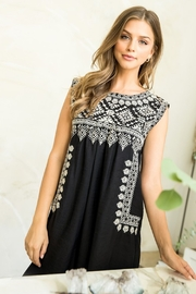 Thml Embroidered Black Dress - Product Mini Image