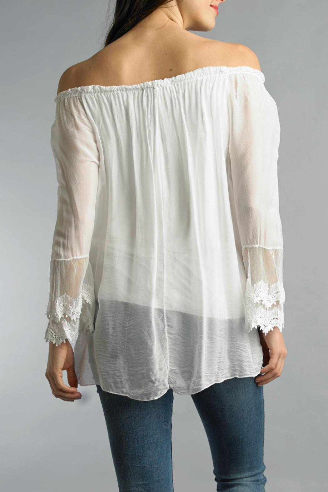 Tempo Paris Embroidered Blouse - Front Full Image