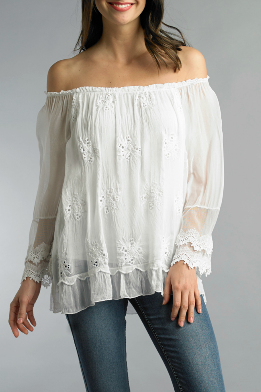 Tempo Paris Embroidered Blouse - Main Image