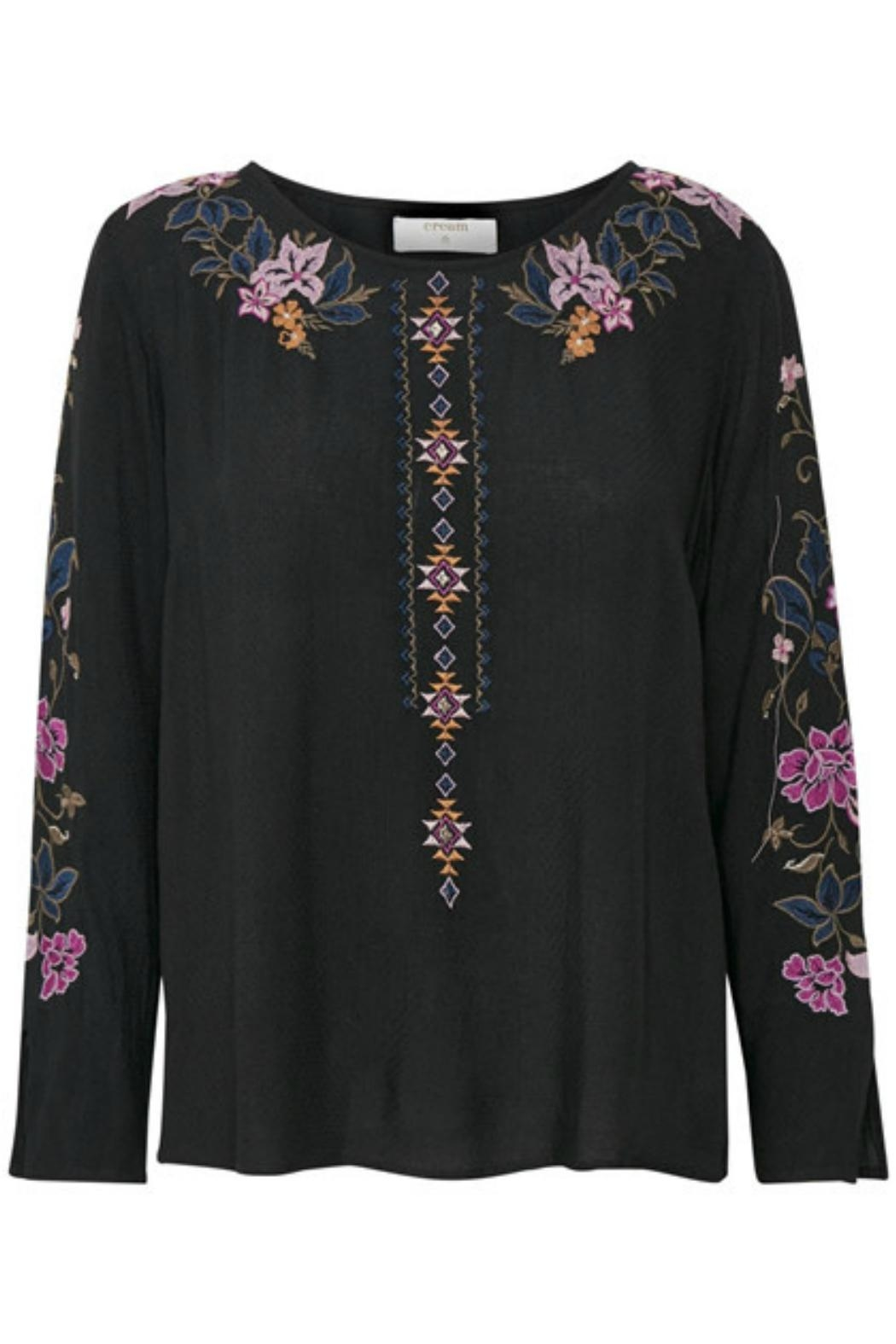 Cream Embroidered Blouse - Main Image