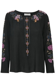 Cream Embroidered Blouse - Front cropped