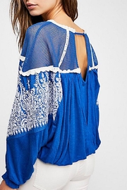 Free People Embroidered Bohemian Top - Front full body
