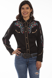 Scully  Embroidered Boho Blouse - Product Mini Image