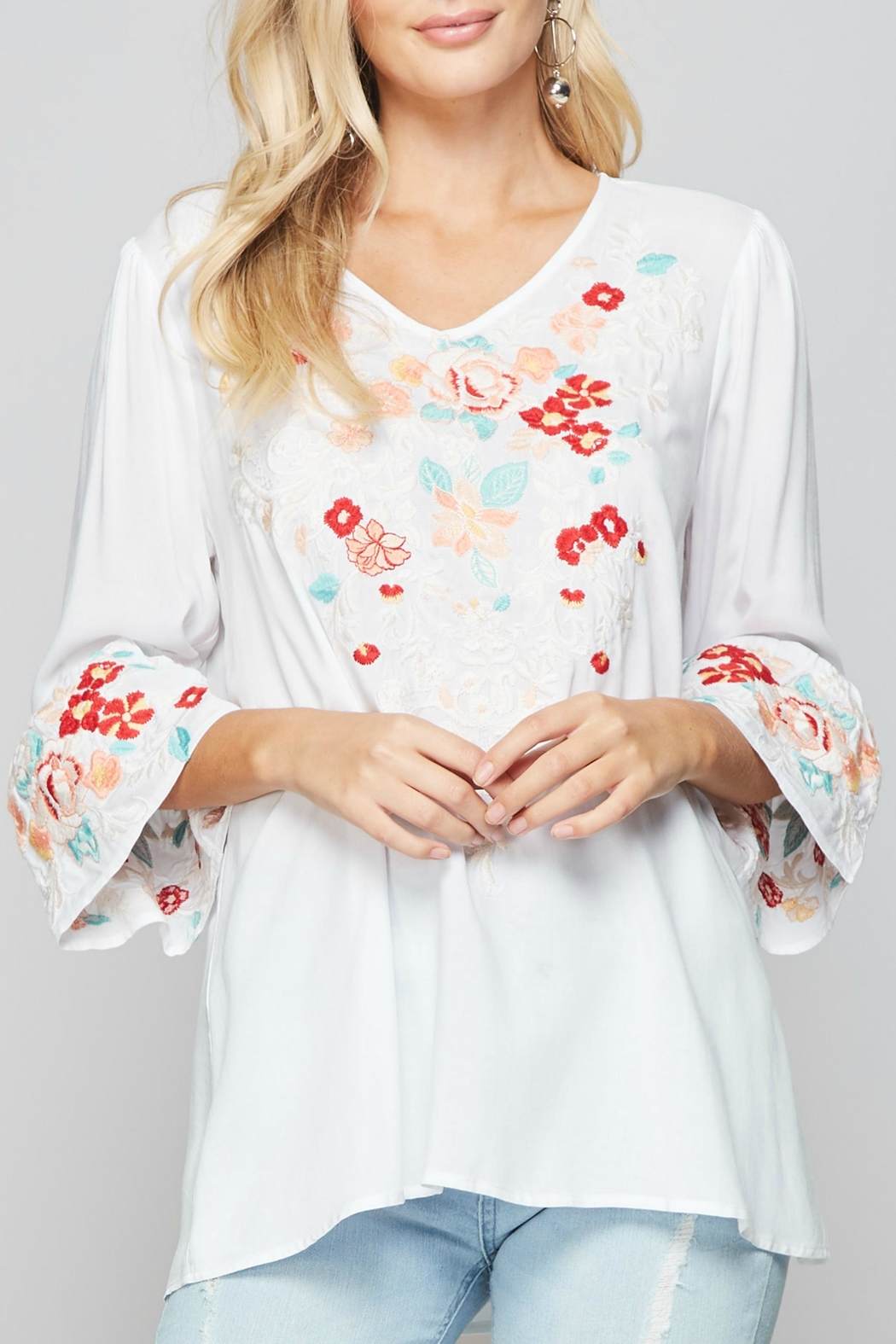 Andree by Unit Embroidered Boho Blouse - Main Image