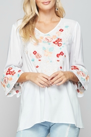 Andree by Unit Embroidered Boho Blouse - Product Mini Image
