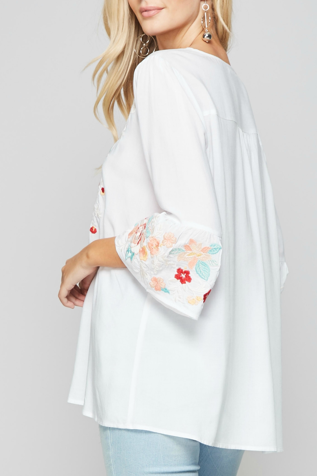 Andree by Unit Embroidered Boho Blouse - Front Full Image