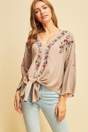 Entro Embroidered Boho Top - Product Mini Image