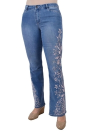 True Blue  Embroidered Boot-Cut Jean - Product Mini Image