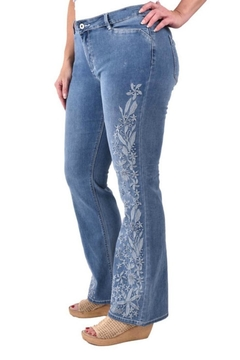 True Blue  Embroidered Boot-Cut Jean - Product List Image