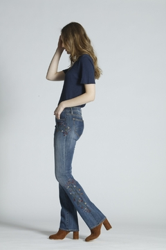 Driftwood Embroidered Boot Cut Jeans - Product List Image
