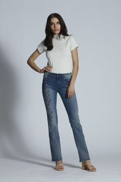 Driftwood Kelly Embroidered Boot Cut Jeans - Product List Image