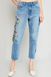 Hayden Embroidered Boyfriend Jeans - Product Mini Image