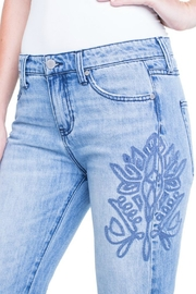 Liverpool Jean Company Embroidered Boyfriend Jeans - Front full body