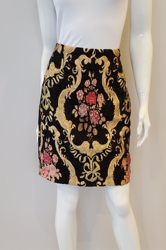 Shoptiques Product: Embroidered Brocade Pencil Skirt