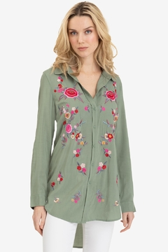 Shoptiques Product: Embroidered Button Blouse
