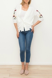Mystree Embroidered Button Cardigan - Product Mini Image