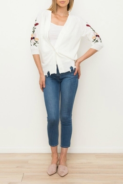 Mystree Embroidered Button Cardigan - Product List Image