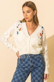 HYFVE Embroidered Button Down Short Cardigan - Product Mini Image