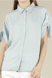 Current Air Embroidered Button Shirt - Product Mini Image