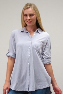 Caite Embroidered Button Up - Product List Image