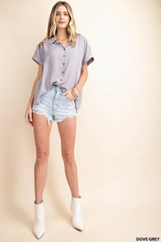 KORI AMERICA Embroidered Button-Up - Side cropped